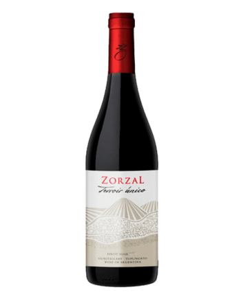 bottle of Zorzal Terroir Unico Pinot Noir - Uncork Mexico