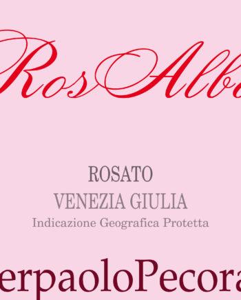 label of Pierpaolo Pecorari RosAlba Rosato Venezia Giulia IGP